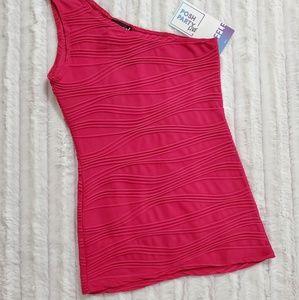 ️•wet seal•one shoulder, deep pink, top• LK! for sale
